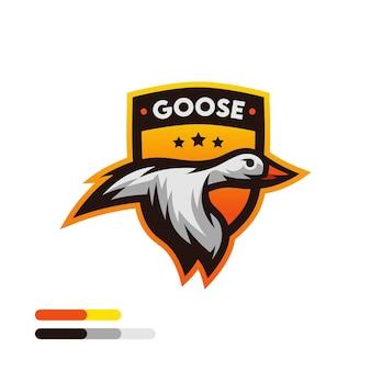 Logo dell'uccello dell'oca
