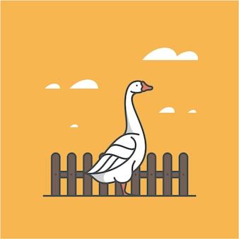 Oca, illustrazione. icona di contorno.