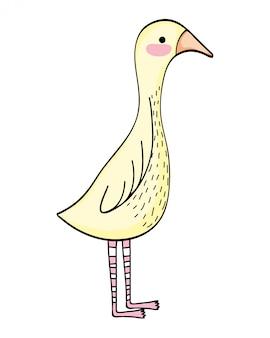 Cartone animato di animali selvatici d'oca