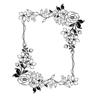 Splendida cornice floreale con spazio vuoto