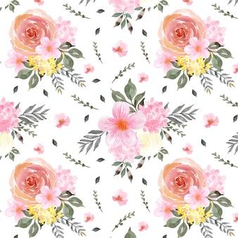 Splendido motivo floreale senza soluzione di continuità con fiori colorati