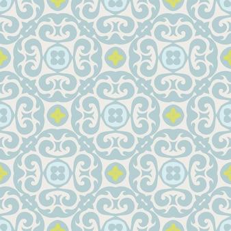 Splendido motivo patchwork senza soluzione di continuità, piastrelle orientali, ornamenti.