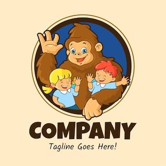 Personaggio mascotte gorila