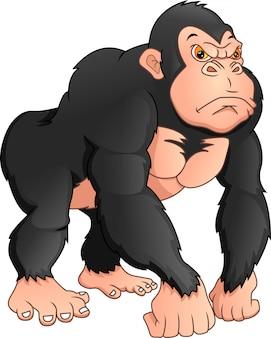 Cartone animato gorilla