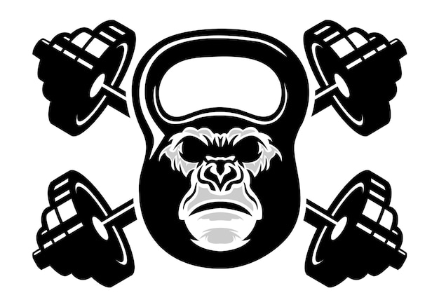 Modello di logo gorilla fitness