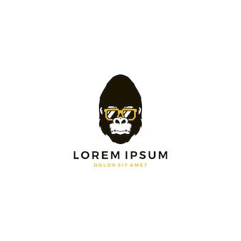 Logo gorilla geek sun glasses
