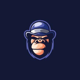 Disegno dell'illustrazione del cappello di gorilla.