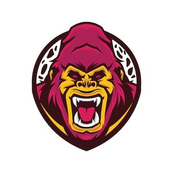 Logo della testa di gorilla