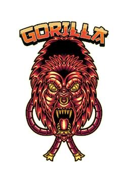 Illustrazione di gorilla