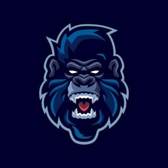 Logo della mascotte di gorilla