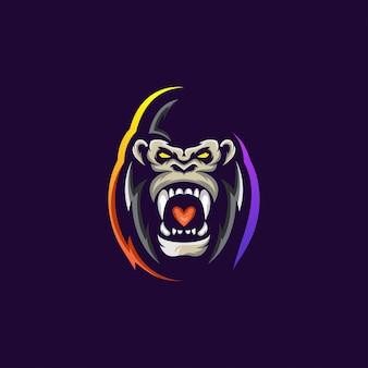 Mascotte di gorilla