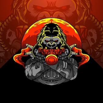Illustrazione della maschera di gorilla