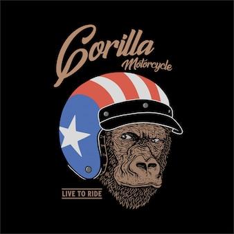 Casco gorilla motocycle.gorilla