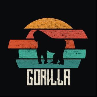 Gorilla sillhouete