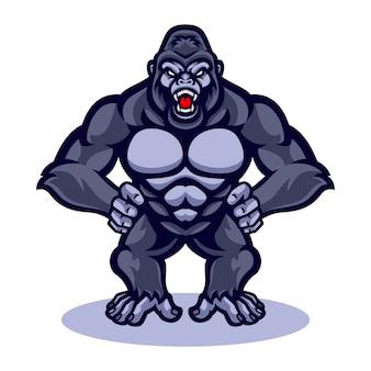 Mascotte di vettore di gorilla
