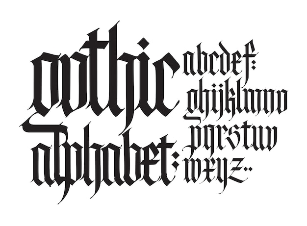 Alfabeto inglese gotico