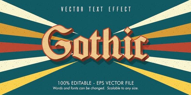 Testo gotico, effetto di testo modificabile in vecchio stile
