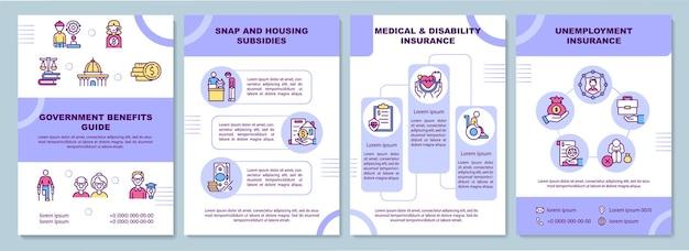 Modello di brochure per guida ai benefici del governo