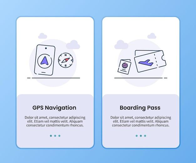 Campagna di carte d'imbarco di navigazione gps per il modello di imbarco