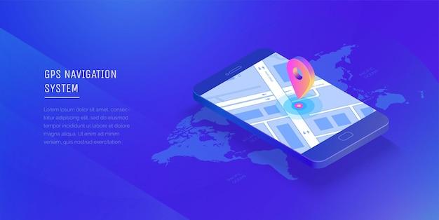 Sistema di navigazione gps applicazione mobile per la navigazione gps smart tracker