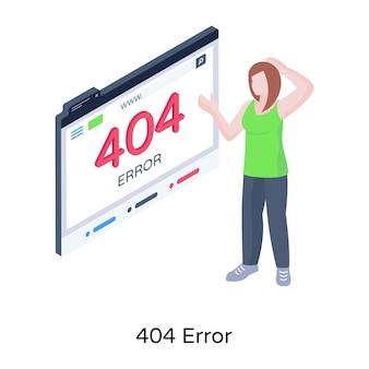 Prendi questa illustrazione di errore 404 in stile isometrico
