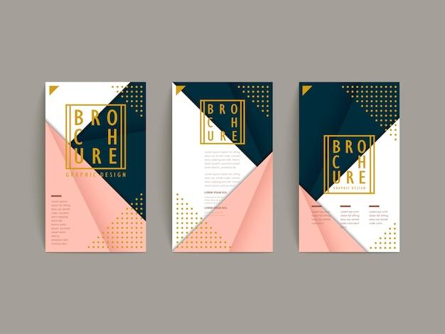 Grazioso modello di brochure design in stile origami