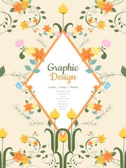 Grazioso modello di brochure design con elementi floreali