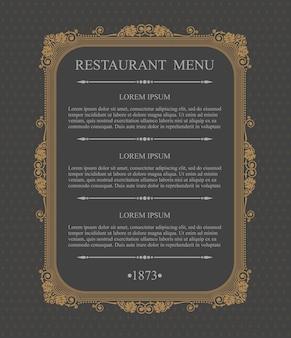 Grazioso ristorante menu elementi di design tipografici, modello grazioso calligrafico,