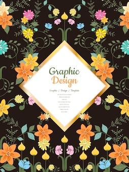 Design grazioso modello con elementi floreali
