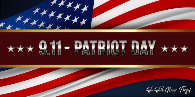 Gradiente 9,11 patriot day banner background