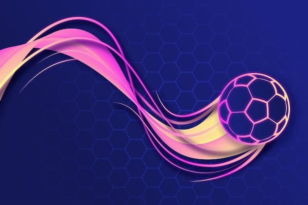 Sfondo di calcio astratto sfumato