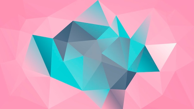 Fondo orizzontale astratto del triangolo di pendenza. fondale poligonale grigio, rosa, turchese per presentazioni aziendali. bandiera astratta geometrica alla moda. volantino del concetto di tecnologia. stile mosaico.