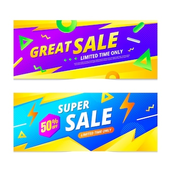 Banner di vendita astratti sfumati