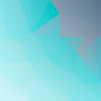 Sfondo sfumato triangolo quadrato astratto. fondale poligonale grigio e turchese per applicazioni mobili e web. bandiera astratta geometrica alla moda. volantino del concetto di tecnologia. stile mosaico.