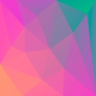 Sfondo sfumato triangolo quadrato astratto. sfondo poligonale multicolore arcobaleno vibrante per applicazioni mobili e web. bandiera astratta geometrica alla moda. volantino del concetto di tecnologia. stile mosaico.