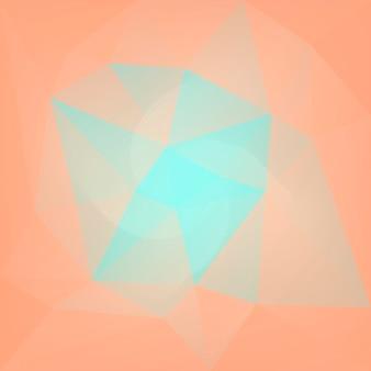 Sfondo sfumato triangolo quadrato astratto. sfondo poligonale di colore giallo e arancione per applicazioni mobili e web. bandiera astratta geometrica alla moda. volantino del concetto di tecnologia. stile mosaico.