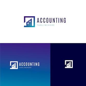 Modello di logo di contabilità gradiente
