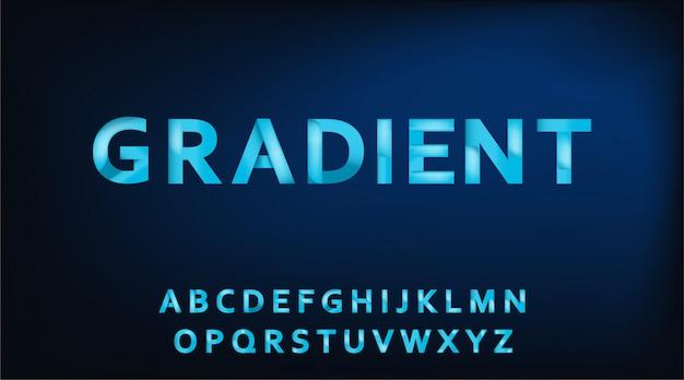 Carattere alfabeto gradiente.
