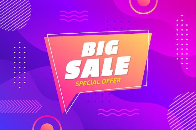Sfondo di offerte speciali di grande vendita sfumata