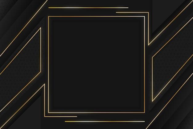 Sfondi neri sfumati con cornici dorate
