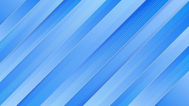 Fondo astratto moderno di sport lucido blu sfumato con vettore premium di effetto di movimento
