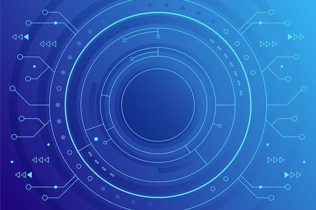 Sfondo di tecnologia blu sfumato