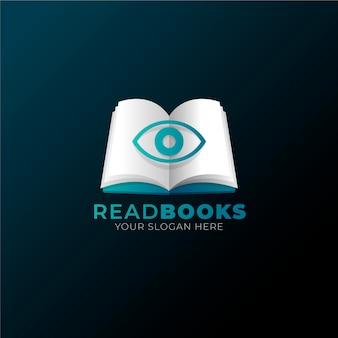 Modello di logo del libro sfumato