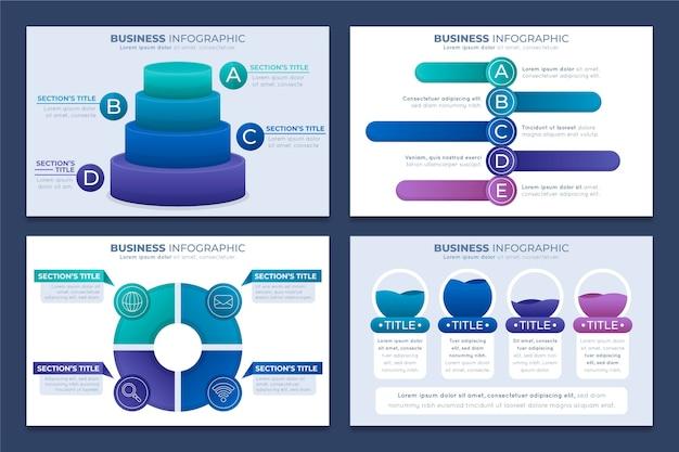 Gradiente infografica aziendale concetto