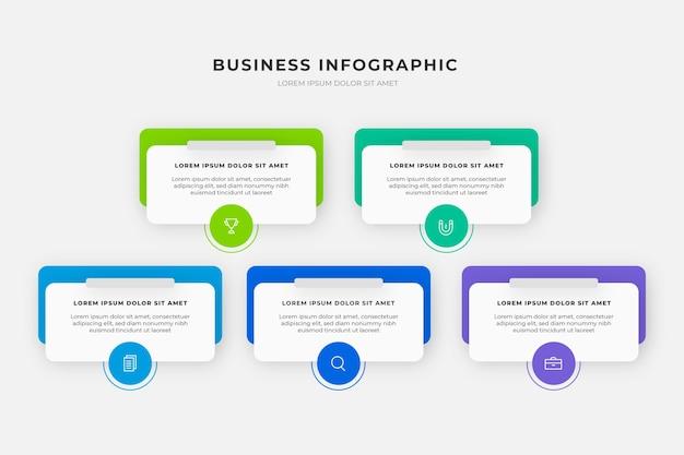 Infografica aziendale gradiente