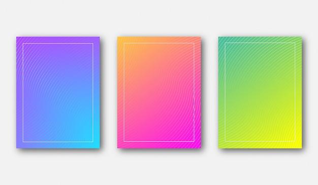 Modello del fondo del manifesto di colore di pendenza