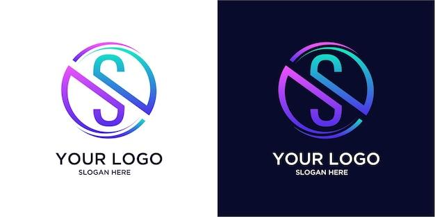 Modello di logo di colore sfumato s