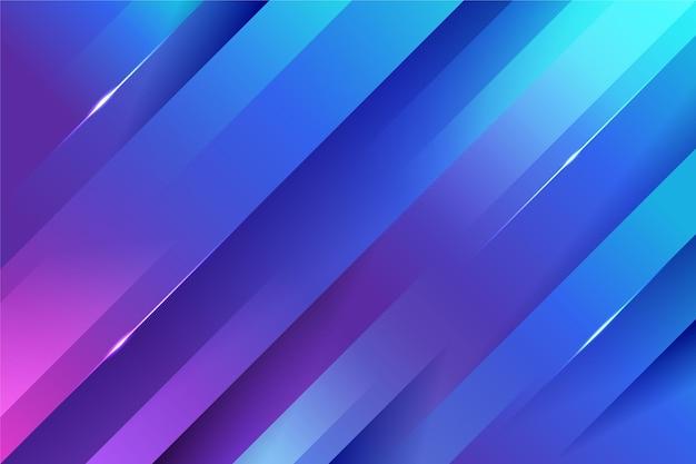 Sfondo di linee dinamiche colorate sfumate
