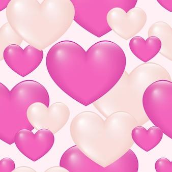 Fondo senza cuciture del modello del cuore colorato gradiente.