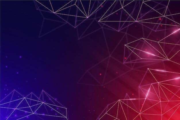 Sfondo di connessione di rete colorato sfumato